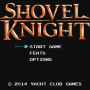 Start Screen for Shovel Knight