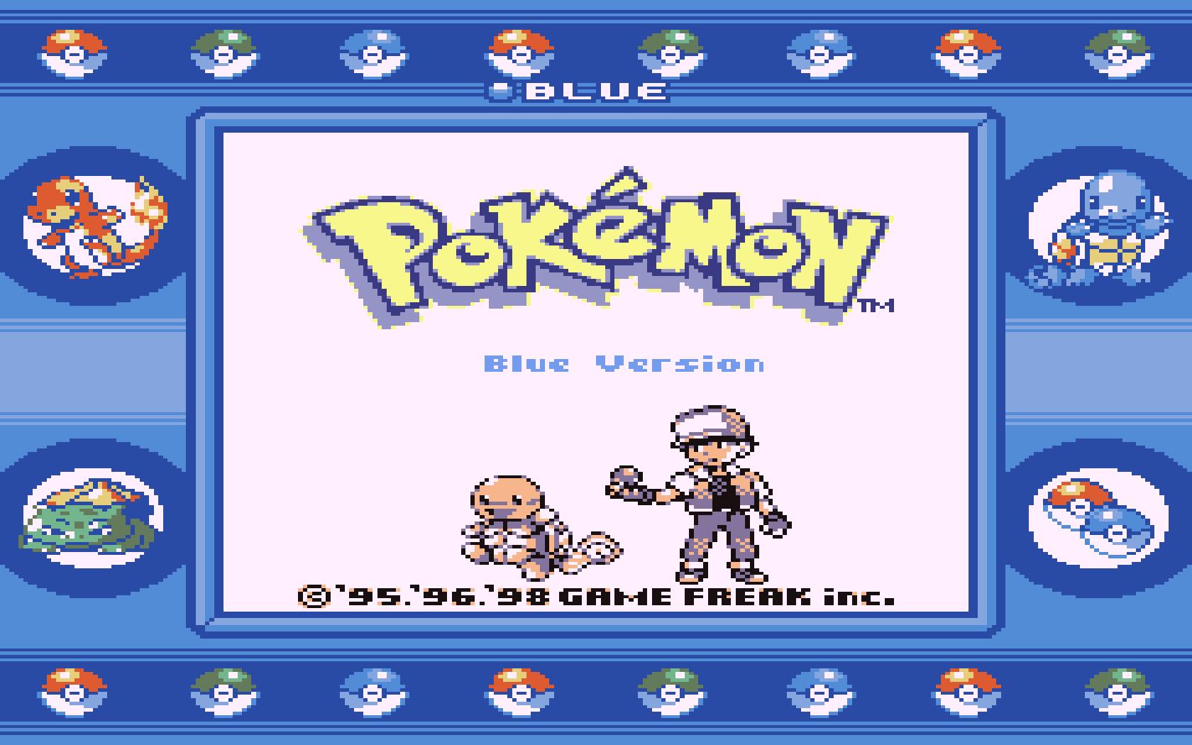 Pokemon Blue Super GameBoy
